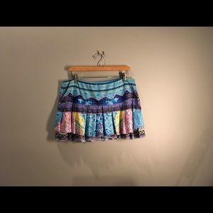 Lucky in Love tennis skirt sz 16 XL multi color